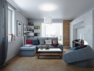 Дизайн 4-х комнатной квартиры Спальня в стиле лофт от Арт-дизайн студия Юрия Зубенко Лофт