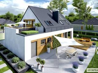 NOWOCZESNY SAM G1 - DOM, W KTÓRYM KRÓLUJE WYGODA! Nowoczesne domy od Pracownia Projektowa ARCHIPELAG Nowoczesny
