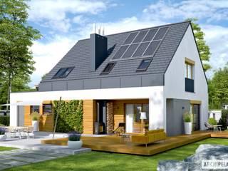 NOWOCZESNY SAM G1 - DOM, W KTÓRYM KRÓLUJE WYGODA!: styl , w kategorii Domy zaprojektowany przez Pracownia Projektowa ARCHIPELAG,Nowoczesny