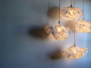 Lamp Cloud Suspension in felted wool Ekaterina Galera 家居用品配件與裝飾品 羊毛 White