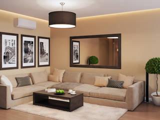 Визуализации проекта на 130 кв.м. в Сургуте Гостиная в стиле модерн от Alyona Musina Модерн