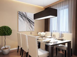 Визуализации проекта на 130 кв.м. в Сургуте Столовая комната в стиле модерн от Alyona Musina Модерн