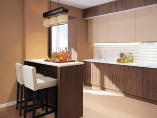 Визуализации проекта на 130 кв.м. в Сургуте Кухня в стиле модерн от Alyona Musina Модерн