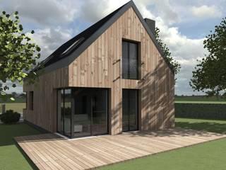 Elewacja ogrodowa: styl skandynawskie, w kategorii Domy zaprojektowany przez 2L_studio