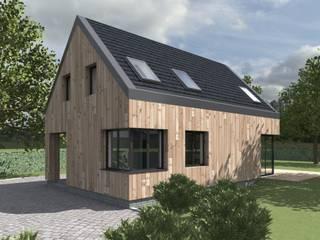 Elewacja frontowa: styl skandynawskie, w kategorii Domy zaprojektowany przez 2L_studio