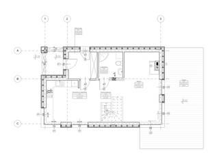 Rzut parteru: styl skandynawskie, w kategorii Domy zaprojektowany przez 2L_studio