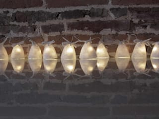 String lights Garland in felted wool Christmas decorations Ekaterina Galera 家居用品配件與裝飾品 羊毛 White