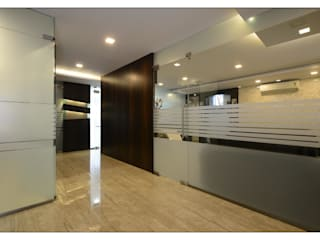 passage area:  Office buildings by sayyam interiors.
