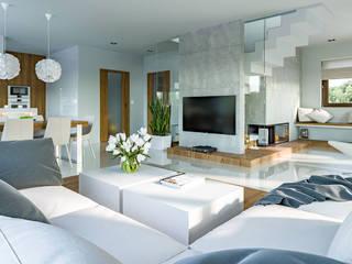 Salon de style  par HomeKONCEPT   Projekty Domów Nowoczesnych