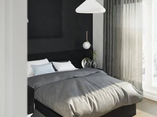 Sypialnia Minimalistyczna sypialnia od Mohav Design Minimalistyczny