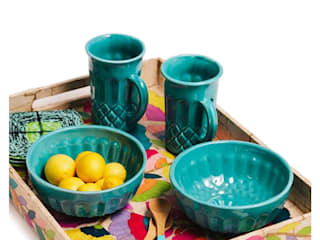 Bizcocho HouseholdHomewares Pottery Turquoise
