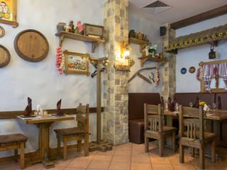 Ресторан Корчма Бары и клубы в рустикальном стиле от Архитектурная мастерская Leto Рустикальный