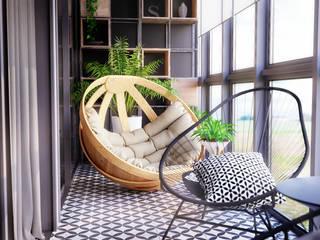Scandinavian style balcony, veranda & terrace by homify Scandinavian