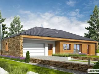 PROJEKT DOMU EX 8 G2 (wersja B) - design z najwyższej półki: styl , w kategorii Domy zaprojektowany przez Pracownia Projektowa ARCHIPELAG,Nowoczesny