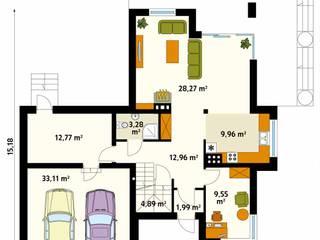 Paredes y pisos de estilo moderno de Biuro Projektów MTM Styl - domywstylu.pl Moderno