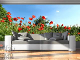 5. GLASBILDER IM WOHNZIMMER Moderne Wohnzimmer von Mitko Glas Design Modern