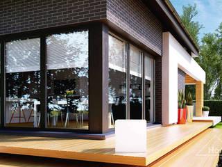 Maisons modernes par HomeKONCEPT   Projekty Domów Nowoczesnych Moderne