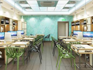 Espaces de bureaux minimalistes par студия Design3F Minimaliste