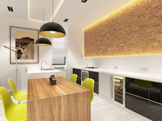 Minimalist kitchen by Антон Гришин Частный Дизайнер Интерьера Minimalist