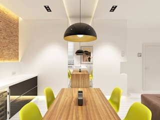 Minimalist dining room by Антон Гришин Частный Дизайнер Интерьера Minimalist