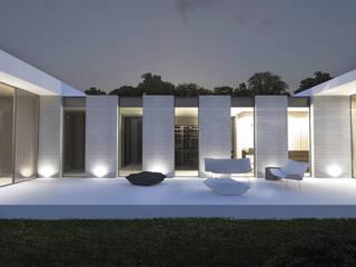 Terrasse maison ca Maisons modernes par ARRIVETZ & BELLE Moderne