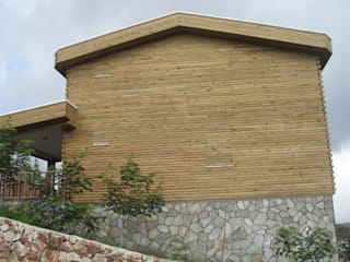 Gürsoy Kerestecilik Rustikale Häuser Holz Holznachbildung