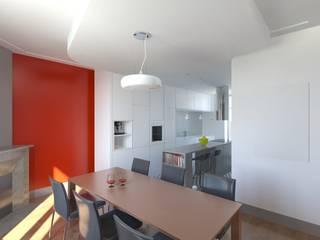Vue de l'espace repas après ouverture du mur:  de style  par 3B Architecture