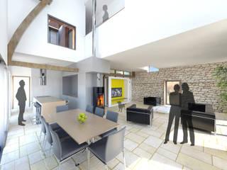 Vue d el'espace de vie:  de style  par 3B Architecture