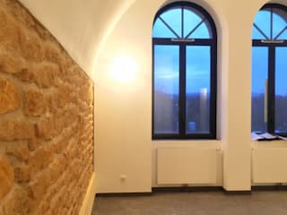 3B Architecture Modern living room Stone White