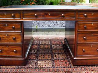 Antique Partners Desk by Edwards and Roberts: classic  by Burrells Antique Desks, Classic