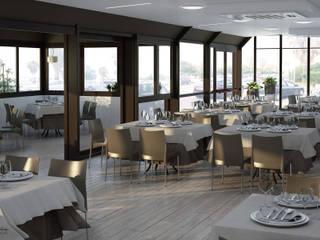 Design & Render - Progetto di restyling del ristorante pizzeria La Risacca -S.Agata Militello (ME): Negozi & Locali commerciali in stile  di Santoro Design Render