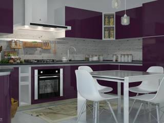 Interior design e progettazione spazi cucina e zona soggiorno, Capo d'Orlando (ME).: Cucina in stile  di Santoro Design Render