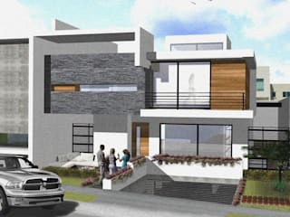 Arquimia Arquitectos Casas estilo moderno: ideas, arquitectura e imágenes Concreto Blanco