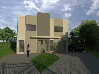 Anteproyecto Vivienda Suburbana: Casas de estilo minimalista por Oficina de Diseño y Arquitectura