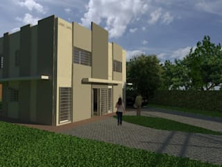 Anteproyecto Vivienda Suburbana Casas minimalistas de Oficina de Diseño y Arquitectura Minimalista
