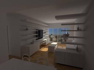 Proyecto Remodelación de Departamento Salones minimalistas de Oficina de Diseño y Arquitectura Minimalista