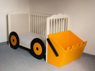 Kinderbett-Anbauset Bagger :   von Kanaholz
