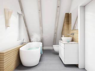 Łazienka / Bathroom: styl , w kategorii Łazienka zaprojektowany przez DOT STUDIO Agnieszka Żakowska-Nowak