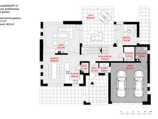 Casas de estilo  por HomeKONCEPT | Projekty Domów Nowoczesnych , Moderno