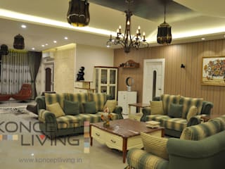 Living Room With Amazing Lights and Suitable Furniture :  Living room by Koncept Living