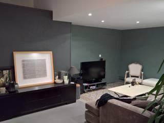 L&D Intérieur Salas de estar modernas Concreto Verde