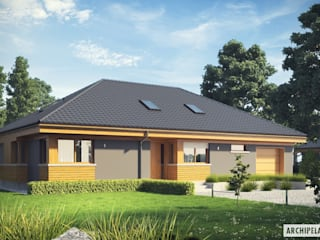 Projekt Gabriel G1 ENERGO - nowoczesny dom z możliwością rozbudowy : styl , w kategorii Domy zaprojektowany przez Pracownia Projektowa ARCHIPELAG,Nowoczesny