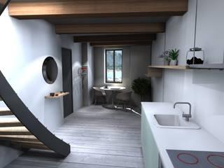 CASSIS Couloir, entrée, escaliers modernes par Claire de Bodinat / Archidesign Moderne