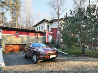 Вид дома со стороны ворот: Дома в . Автор – Adam Guzuev Studio