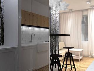 Scandinavian style corridor, hallway& stairs by ZAZA studio Scandinavian