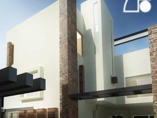 Fachada posterior: Casas de estilo  por ECM arquitectura