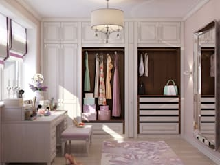 Classic style dressing room by Студия дизайна Дарьи Одарюк Classic