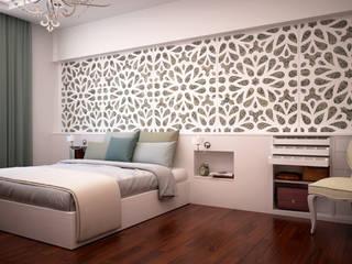 Dormitorio principal A3D INFOGRAFIA Dormitorios de estilo clásico