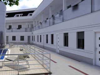 Fachada_vista 1: Casas de estilo clásico de A3D INFOGRAFIA