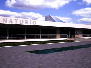 INFOGRAFÍAS 3D DE FUNERARIA TANATORIO Casas de estilo moderno de A3D INFOGRAFIA Moderno